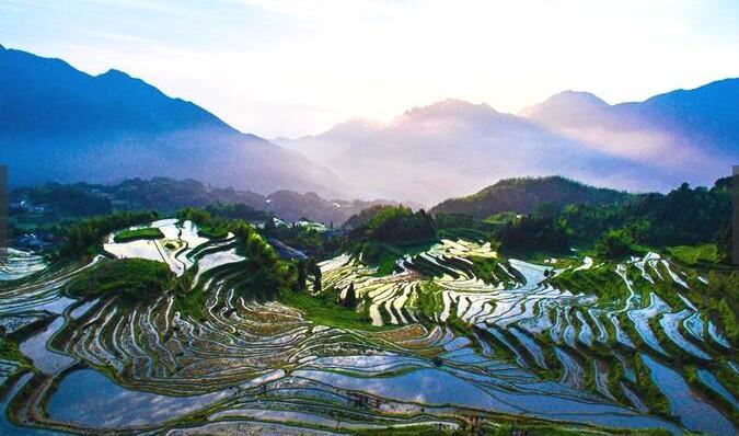 我国华东地区最大的梯田群,网友:中国最美没有之一