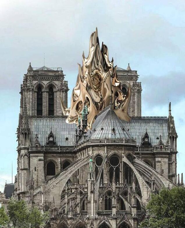 巴黎圣母院重建屋顶修露天泳池?